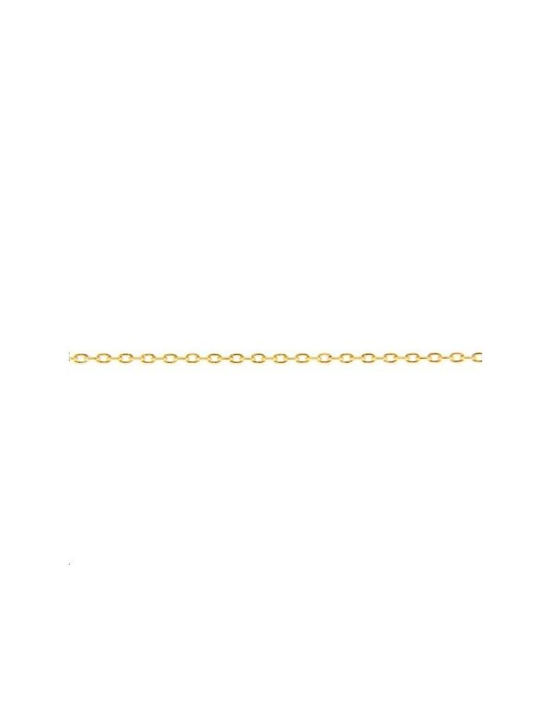 Chaîne maille forçat allongée 1mm doré vendue au mètre