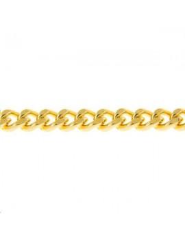 Chaîne maille gourmette laminée 5,2x2,2mm doré vendue au mètre