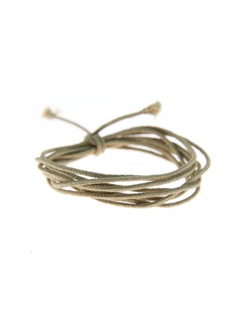 Fashion cord diamètre 0,8mm taupe vendu au mètre