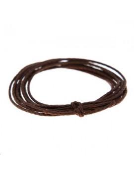 Coton ciré rond 0,7mm marron vendu au mètre