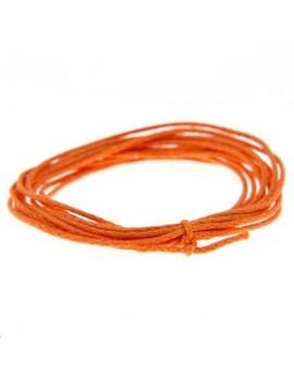 Coton ciré rond 0,7mm orange vendu au mètre