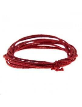 Coton ciré 0,7mm rouge