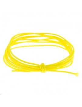 Fashion cord diamètre 0,6mm jaune fluo vendu au mètre