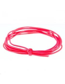 Fashion cord diamètre 0,6mm rose fluo vendu au mètre