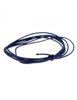 Cordon nylon tressé 0,5mm bleu foncé vendu au mètre
