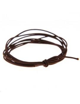Cordon nylon tressé 0,5mm brun foncé
