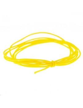 Cordon nylon tressé 0,5mm jaune clair