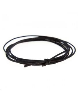 Cordon nylon tressé 0,5mm noir vendu au mètre