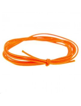 Cordon nylon tressé 0,5mm orange