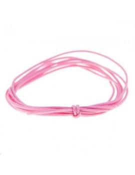 Cordon nylon tressé 0,5mm rose foncé vendu au mètre