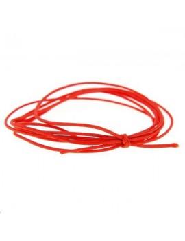 Cordon nylon tressé 0,5mm rouge vendu au mètre