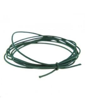 Cordon nylon tressé 0,5mm vert foncé vendu au mètre