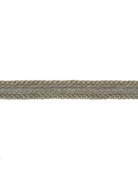 Galon métallisé plat 8mm beige vendu au mètre