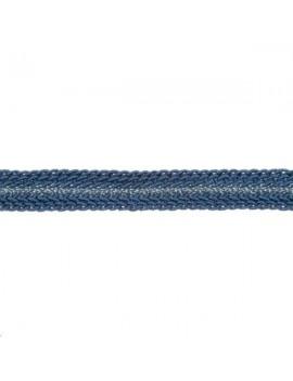 Galon métallisé plat 8mm bleu vendu au mètre