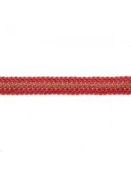 Galon métallisé plat 8mm corail vendu au mètre