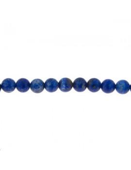 Lapis lazuli rond 5-6mm mat grade A lot de 3 pièces