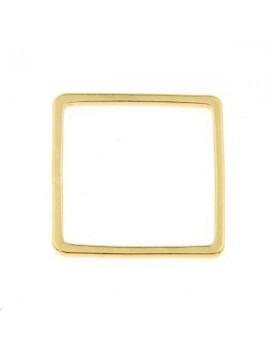Anneau fil carré 16x16x1mm doré