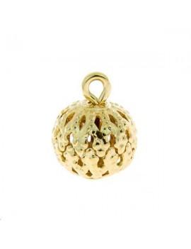 Boule filigrane avec anneau 8mm doré