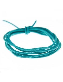 Fashion cord diamètre 0,8mm turquoise foncé vendu au mètre