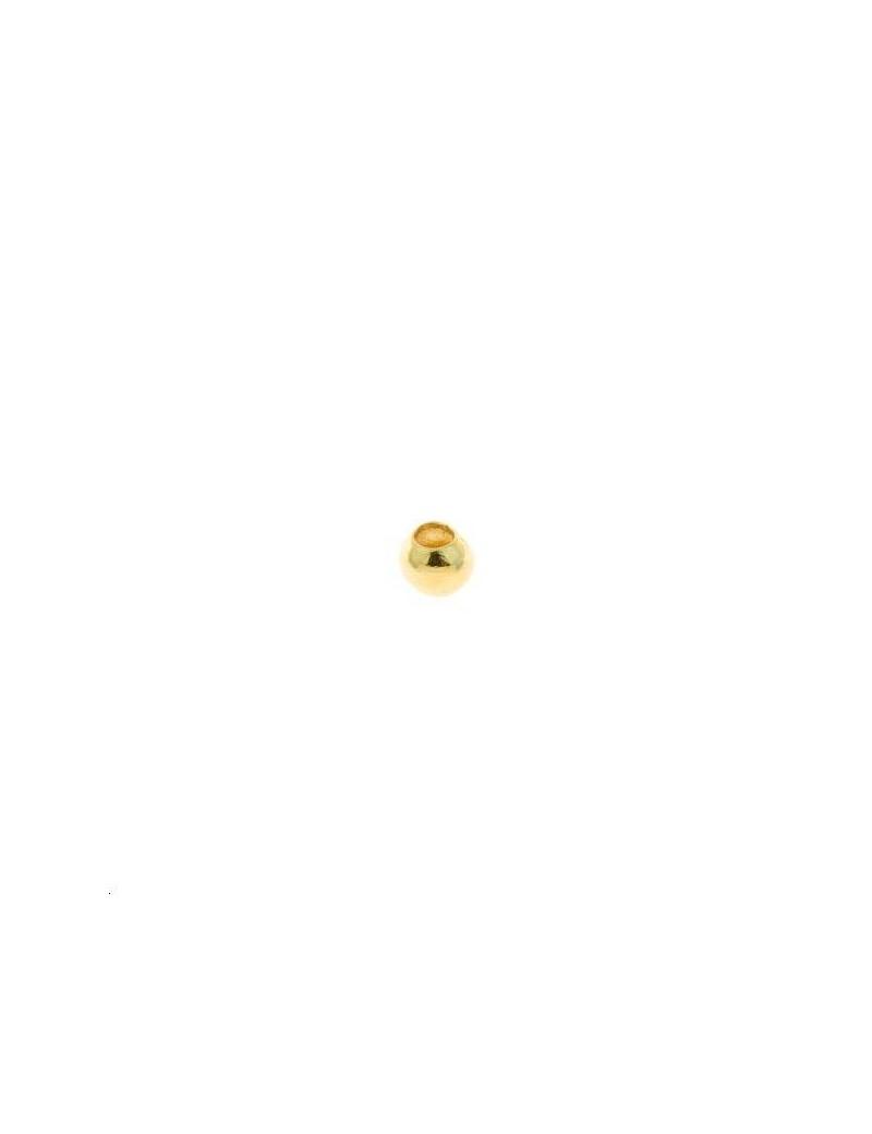 Boule 2x1mm doré