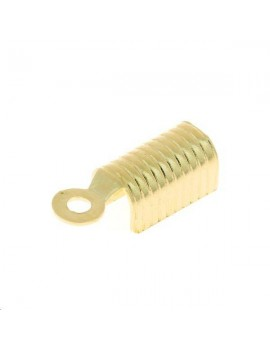 Embout anneau pour cordon 10x4mm doré