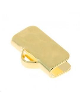 Embout ruban 16x6mm doré