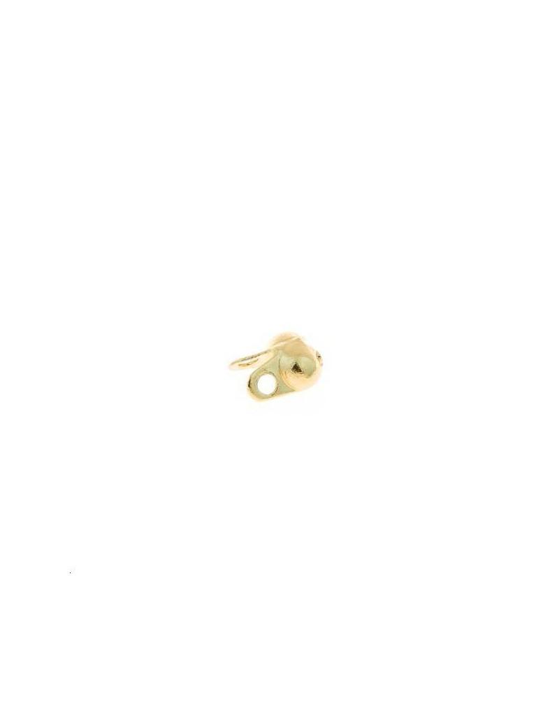 Embout pour chaine boule 1,2mm doré
