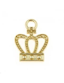Pendentif couronne 18x13mm doré