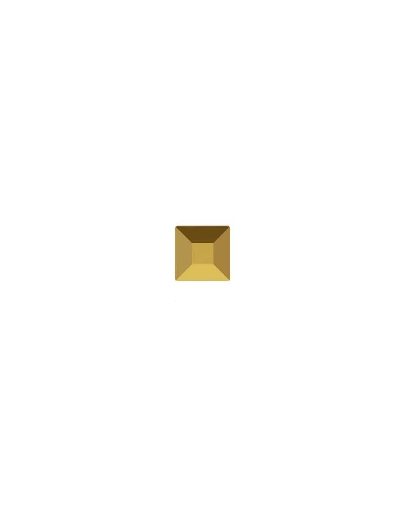 Square flat back 6mm crystal dorado foiled