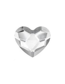 Heart flat back 6mm crystal foiled