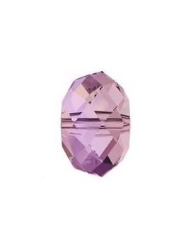 Ronde aplatie briolette 4mm crystal lilac shadow