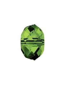 Ronde aplatie briolette 4mm dark moss green