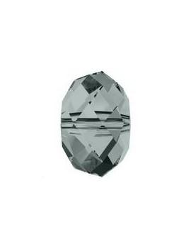 Ronde aplatie briolette 8mm Black diamond