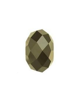 Briolette bead 8mm Cr me l gold2x