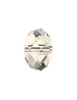Ronde aplatie briolette 8mm Crystal moonlight