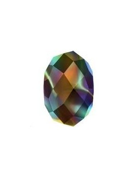Briolette bead 8mm cr rainb dark 2x