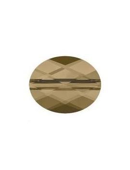 Perle ovale 8x6mm cr bronze shade