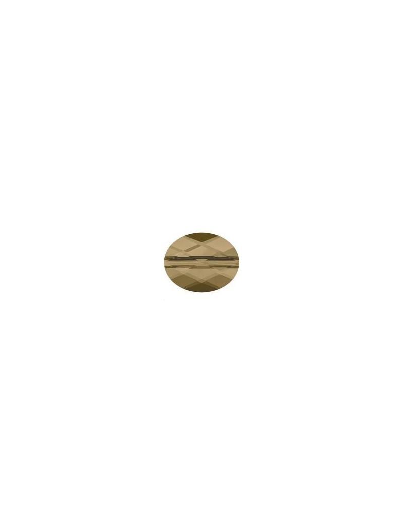 Perle mini oval 8x6mm crystal bronze shade