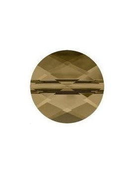 Mini round 8mm crystal bronze shade