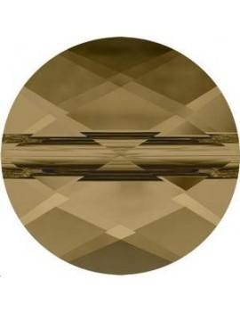 Perle mini round 8mm crystal bronze shade
