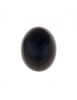 Agate noire cabochon 13x18mm