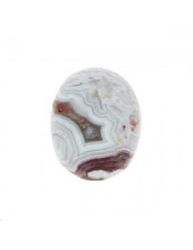 Agate crazy lace cabochon 12x16mm