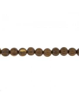 Bois chêne rond godronné 12mm vendu par rang de 40cm