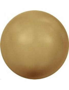 Nacre ronde 3mm bright gold