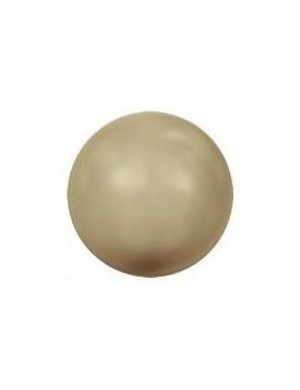 Nacre ronde 4mm vintage gold