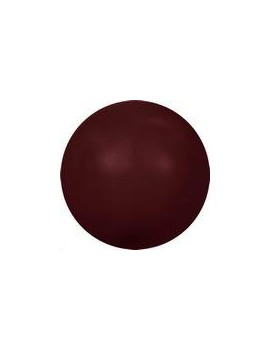 Nacre ronde 6mm bordeaux
