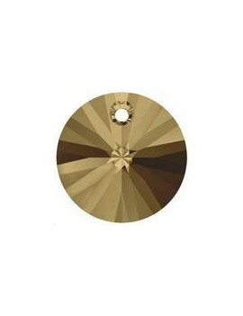 pendentif rond xilion 1trou 6mm crystal bronze shade