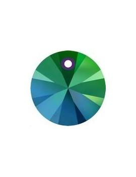 Pendentif rond xilion1trou 6mm crystal scarabaeus green