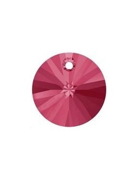 pendentif rond xilion 1trou 6mm indian pink