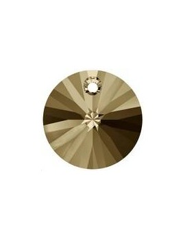 Pendentif rond xilion1trou 8mm crystal golden shadow